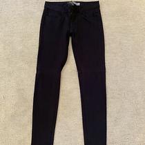 Womens Skinny Paige Jeans Black Size 26 Euc Photo
