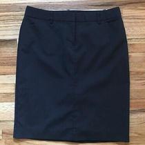 Womens Skirt Express Design Studio Editor Size 6 Black Pinstripe Photo