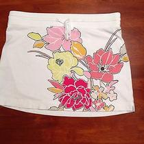 Women's Skirt Medium Express Brand Pink Skirt Flowers Photo