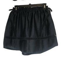 Womens Skirt Size S Small Princess Vera Wang Black Curved Hem Mini Skirt Nwt Photo