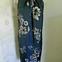 Women's Slate Blue Floral Sleeveless Summer Dress H & M Size Uk 12/14 Bnwt Photo