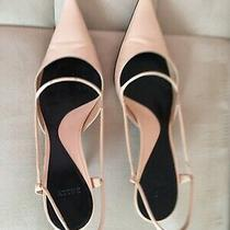 Women's Slingback Bally Pale Pink Sandals Size 9 Made in Italy Photo