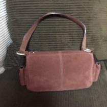 Women's Small Brown Suede Fossil Bag Photo