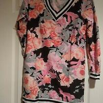 Women's Small New York & Company Soho Street Black/pink Floral Sweatshirt Dress Photo