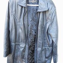 Women's Soft Black Leather Zipper Jacket by Express Size Women's Large Photo
