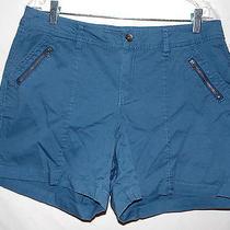 Women's Sonoma Life & Style Modern Fit Blue Shorts Size 10 Photo