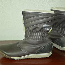 Women's Sorel Firenzy Breve Gray Leather Insulated Boots Sz 11 Photo