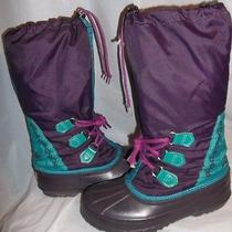 Women's Sorel Freestyle Winter Snow Boots Purple Size Womens Us8 Made in Canada Photo