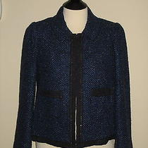 Women's Sparkle Tweed Blazer Blue sz.10 Rebecca Taylor Like Kate Middleton 450 Photo