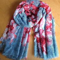 Women's Spring Time Scarf Aldo Fashion Ocean Blue English Rose 44
