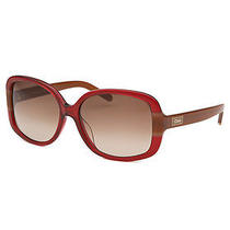 Women's Square Red Sunglasses Photo