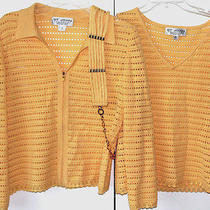Women's St. John Yellow Collection 3pc Tween Set  Sz S and Sz 4  Nwot Photo