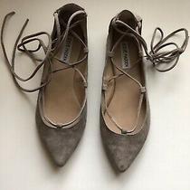 Womens Steve Madden Eleanorr Suede Lace Up Ballet Flat Sz 8 Photo