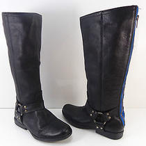 Women's Steve Madden 'Holden' Leather Knee High Boots Black Size 6.5 M  Photo