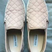 Women's Steve Madden Quilted Ecntrcqt Blush Pink Rose Slip-on Sneakers 6.5m Photo