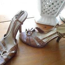 Women's Strappy Open-Toe Heels by Bandolino Sz 6.5 (Mb) Animal Print Tans Photo