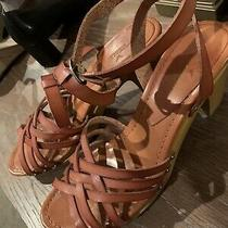 Womens Strappy Wedge Sandals Size 10 Photo