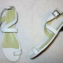 Women's Stunning Leather Toe Ring Summer Sandals by You by Crocs White Sz 8 Photo