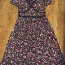 Women's Style & Co. Poly Wear to Work Dress Brown & Pink L 12/14 Photo