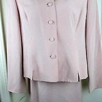 Women's Suit Talbots 12 Pink 100% Pure Silk With Skirt Career Photo