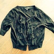 Women's Sweater Black Express Frilly Fall Winter Jacket Blouse Coat Macys Macy's Photo