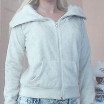 Women's Sweet Elements Fuzzy Furry Cream Ivory Zip Up Sweater Sweatshirt Coat S Photo