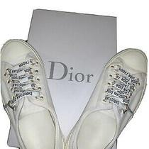 Women's Sz 38 Christian Dior Walk'n'dior Low Sneaker in Milk & Milk Photo