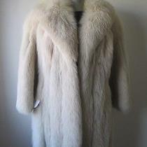 Women's Sz 8 Mint Blush Fox Fur Coat Gorgeous Photo