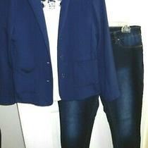 Women's Sz Medium Casual Clothes J.crew Toproyalty Jeans 32x30zoe Blazer  Photo
