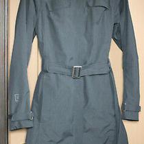 Women's Sz Xs Rei Elements Rain Coat Jacket Trench Black Hooded Waterproof Photo