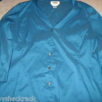 Women's Talbots Beautiful Button Down Shirt Sz 12 (Nice) Photo