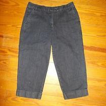 Women's Talbots Petites Jean Capris Size 8 Stretch Lk Photo