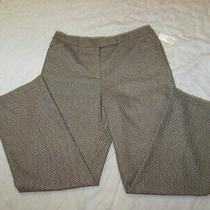 Women's Talbots Wool Blend Pants - Size 12 - New With Tags - Brown Houndstooth Photo