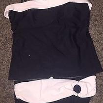 Women's Tankini Black White Classic Elements Swimwear Size 14 Photo
