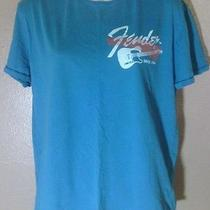 Women's Teal Graphic Fender by Lucky Brand T-Shirt-Size M Photo