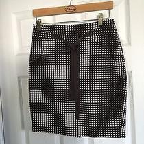 Women's the Limited Brown Polka Dot Tie Skirt- Size 2 Photo