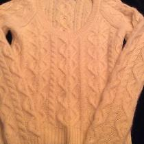 Women's the Limited Cable Knit Lambs Wool Sweater Yellow Size Medium Euc Photo