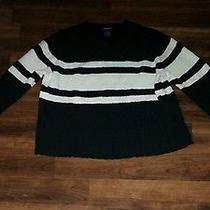 Women's the Limited M Black Striped Sweater - Size Medium - Free Shipping Photo