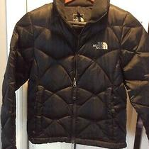 Women's the North Face Down Jacket 550 Black Size Xs/tp Photo