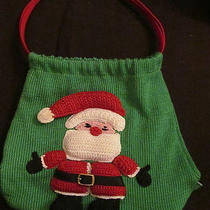 Women's the Sak Christmas Santa Claus Red & Green Medium Crochet Purse Hand Bag Photo