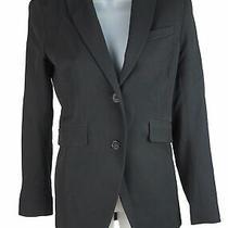 Women's Theory Black Single Breasted Wool Blend Long Sleeve Jacket Blazer Size 6 Photo