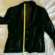 Women's Theory Black Velvet Blazer 2 Button 2 Pocket Jacket Sz 2 Euc Photo