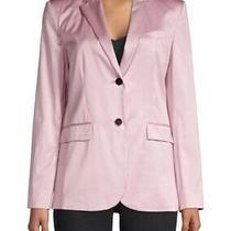 Women's Theory Pink Classic Cotton Chintz 2 Button Blazer Jacket Size 6 Photo