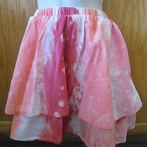Women's  Tiered Orange Tie-Die Skirt by Mossimo  Sz M Photo