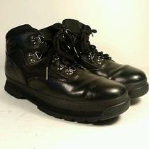 Women's Timberland Sz 6 M Black Leather Ankle Hiking Boot Clean Vgc  Photo