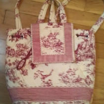 Women's Toile Backpack Purse Women's Handbag Pink Mother' S Day Photo