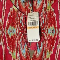 Women's Tommy Bahama Tunic Blouse Lacquer Red  Multi-Color Small Nwt 138 Gift Photo