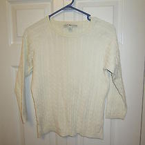 Women's Tommy Hilfiger Cable Sweater  Off-White  Size M Photo