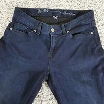 Womens Tommy Hilfiger Dark Wash Casual Curve Bootcut Denim Blue Jeans Sz 0 Photo