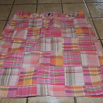 Women's Tommy Hilfiger Madras Mini Skirt Size 10 Orange & Pink Photo